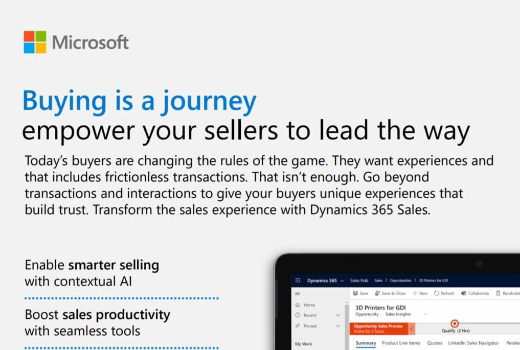 dynamics 365 for sales infographic Buying is a journey empower your sellers to lead the way dynamics 365 experts in malaysia and singapore