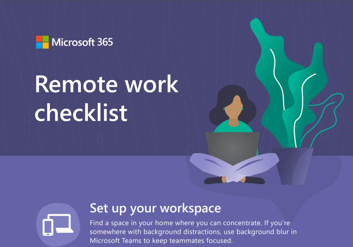 Remote work Checklist - Infographic 1