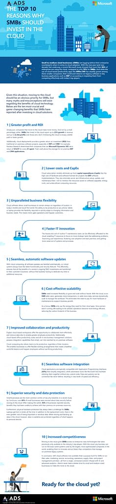 Top 10 Reasons SMB's Should Invest in the Cloud [Infographic] 2
