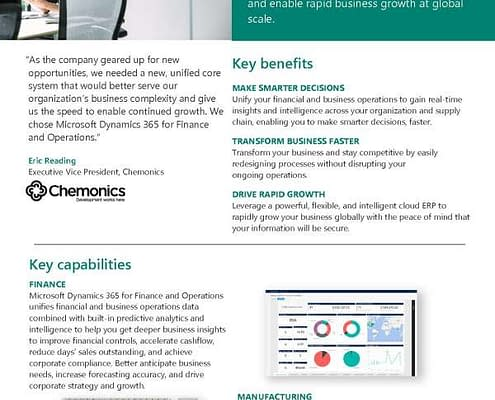 Microsoft Dynamics 365 for Finance and Operations 1