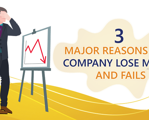 Avoid these 3 reasons why company loso money and fails