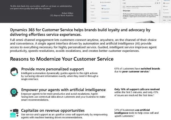 Dynamics 365 for Customer Service - Create lifetime customers 1
