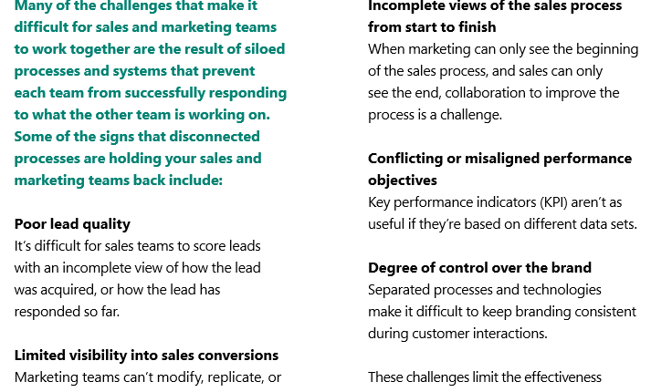 The benefits of aligning sales and marketing - Ebook 3