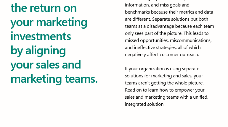 The benefits of aligning sales and marketing - Ebook 2