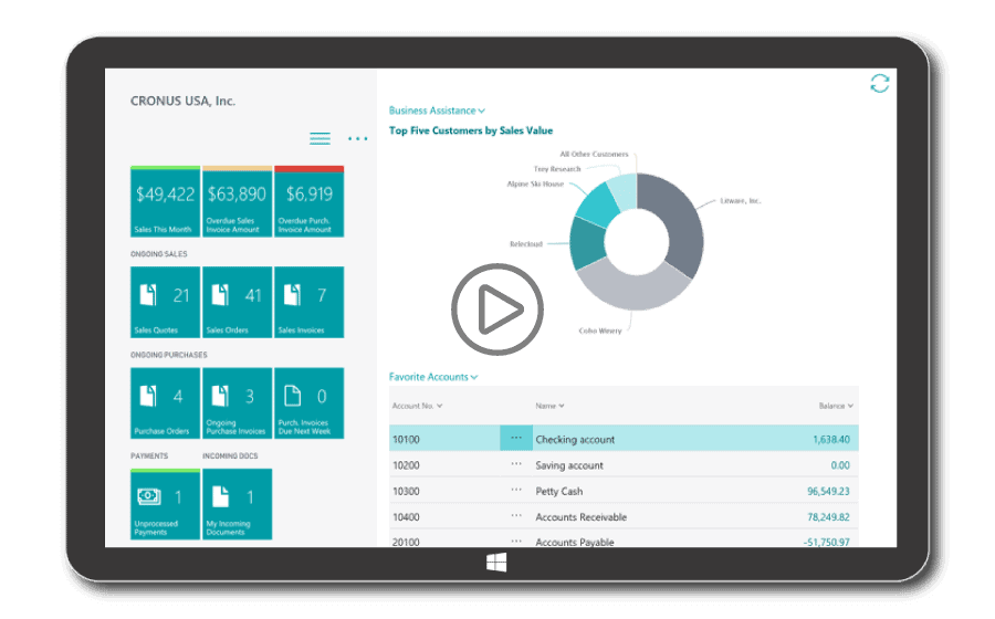 Play a video for Dynamics 365 Business Central for Malaysia & Singapore