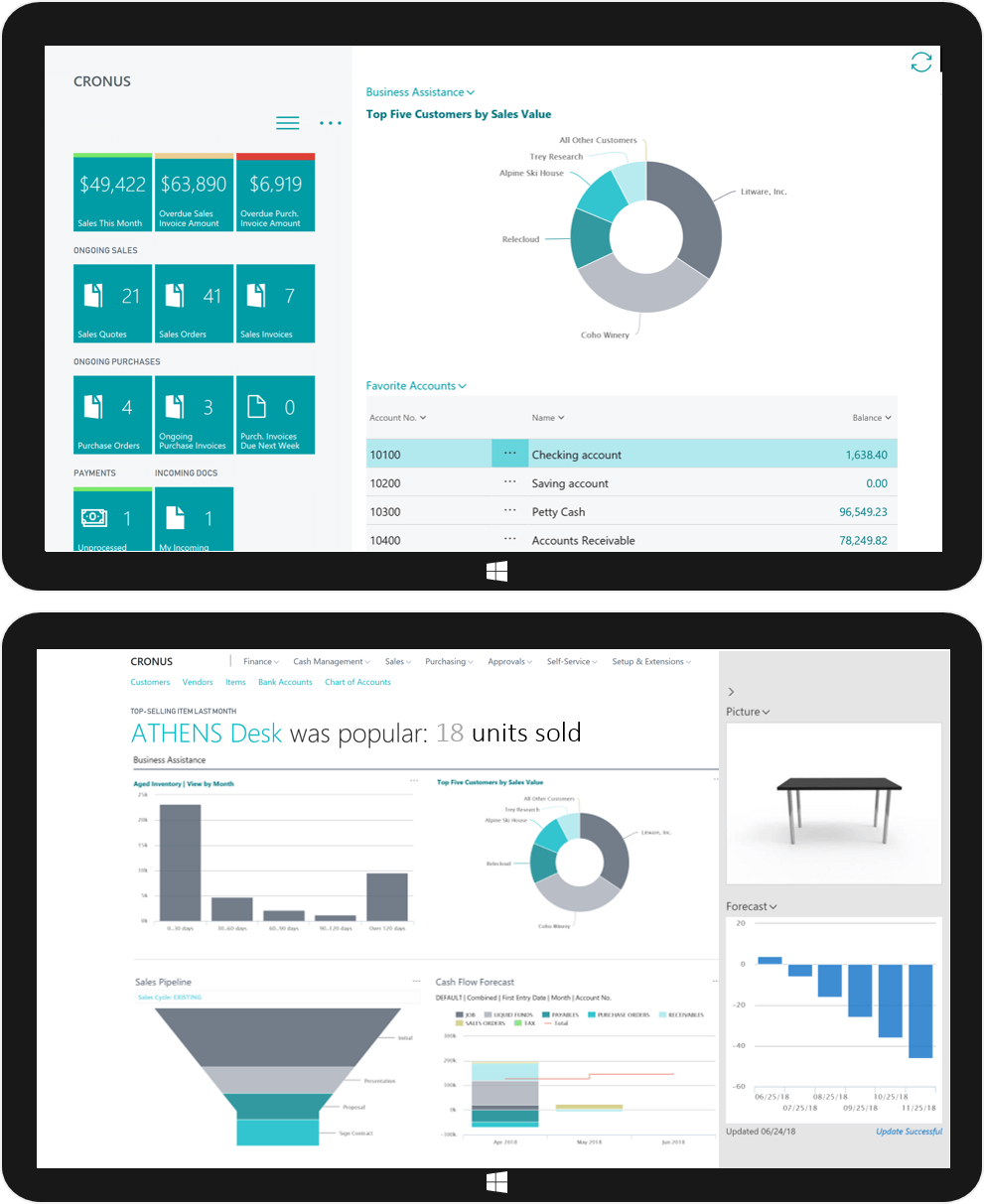 Dynamics 365 Business Central lets you get up and running quickly. Right from the start, handle the most common tasks—quotes, orders, invoicing, purchasing, cash management, and reporting. If you're currently using QuickBooks, transferring your company's financial data into Dynamics 365 Business Central is quick and painless. Intuitive migration tools let you import all the data you need for maximum business continuity. There's no need to slow down and switching to a new solution doesn't have to impact your day-to-day workflow. By using familiar Office tools your people already know, everyone gets up to speed quickly and without extensive training. Applications like Outlook, Word, and Excel provide the comprehensive and reassuring experience that gives employees confidence.  It's built in the cloud, so it's easy to set up, manage and scale. Learn more about Dynamics 365 Business Central in Malaysia and Singapore from Dynamics 365 experts